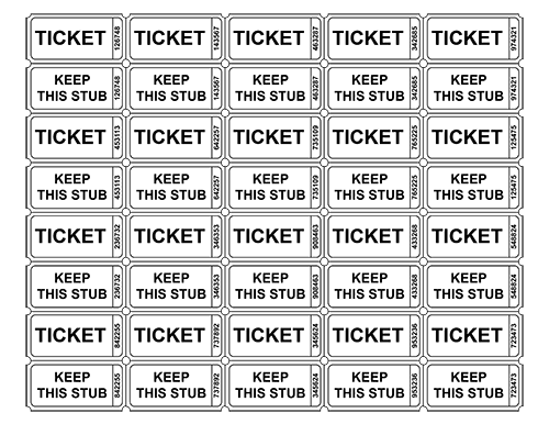 Free Raffle Ticket Template With Numbers