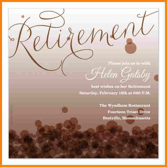 Free Retirement Flyers Templates