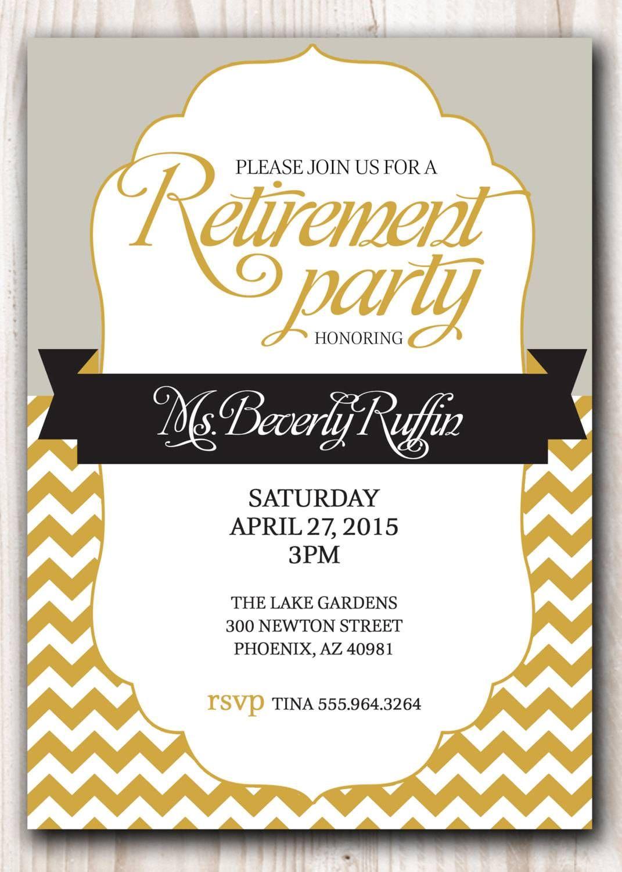 Free Retirement Invitation Templates Printable