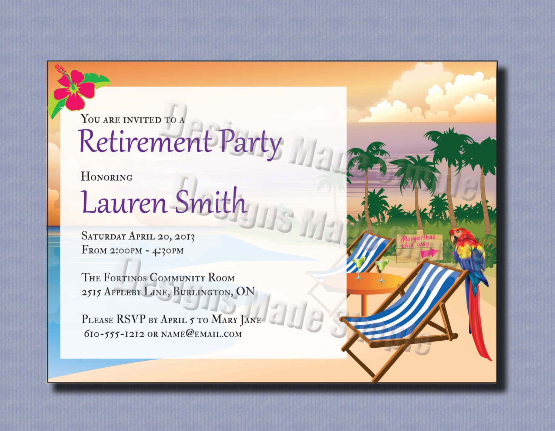Free Retirement Invite Template