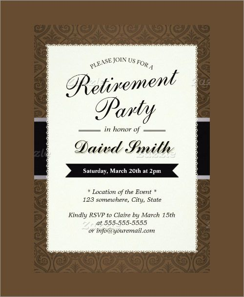 Free Retirement Party Templates