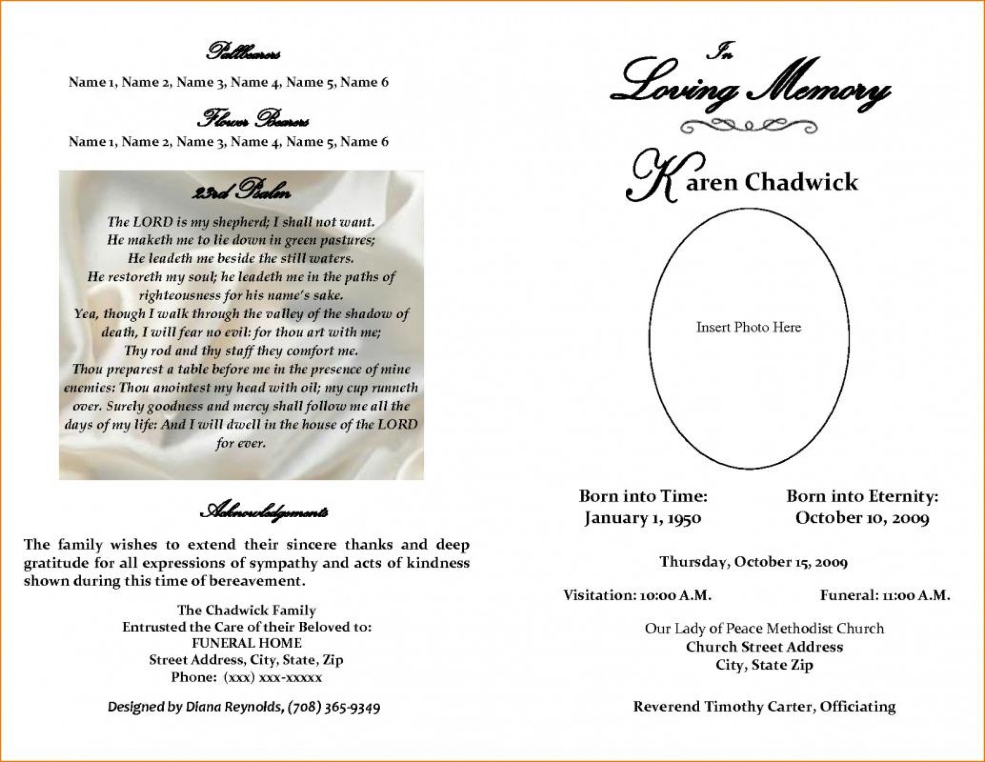 Free Sample Obituary Templates