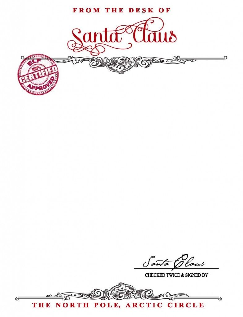 Free Santa Letterhead Templates Download