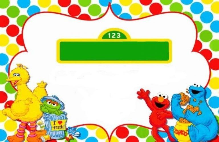 Free Sesame Street Birthday Invitation Templates