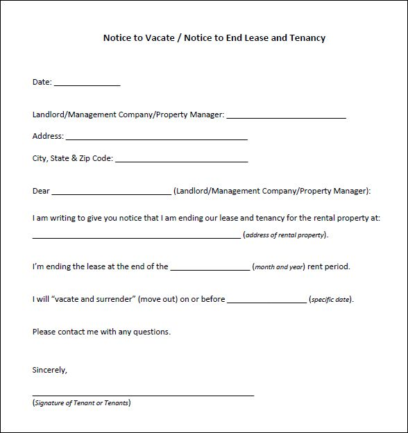 Free Template For Eviction Notice