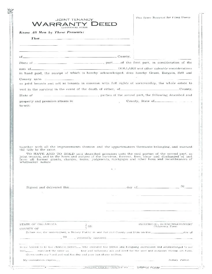Free Warranty Deed Template Texas