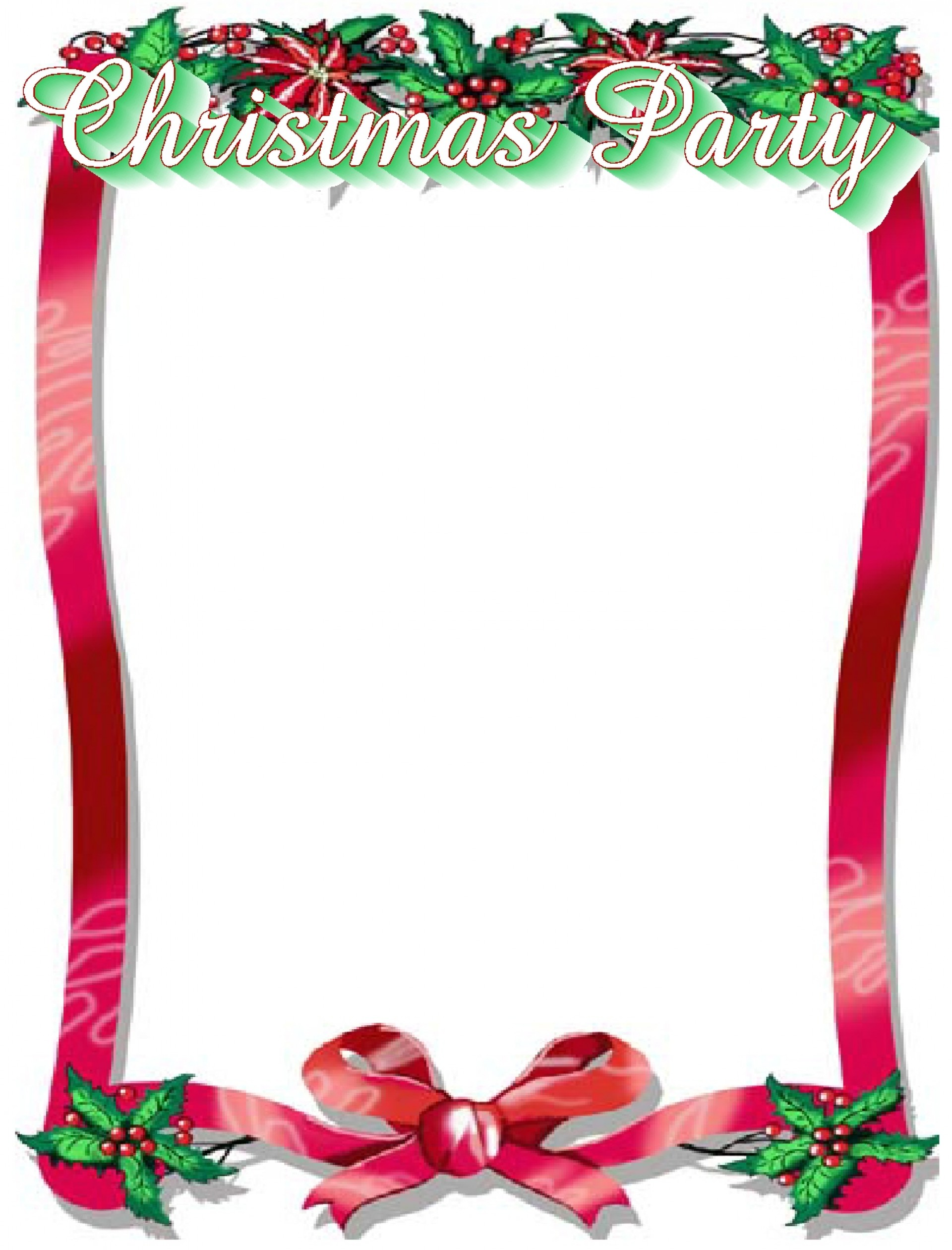 Free Word Downloadable Christmas Flyer Template