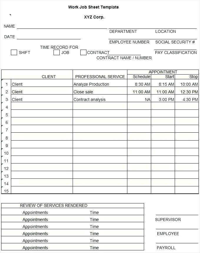 Free Yearly Employee Attendance Record Template