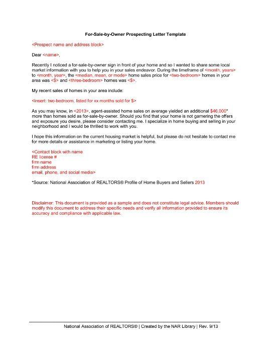 Fsbo Letter Templates