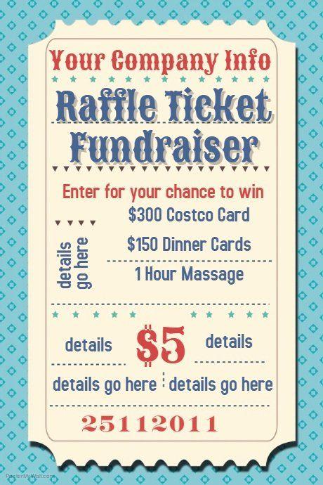 Fundraiser Raffle Flyer Template Free