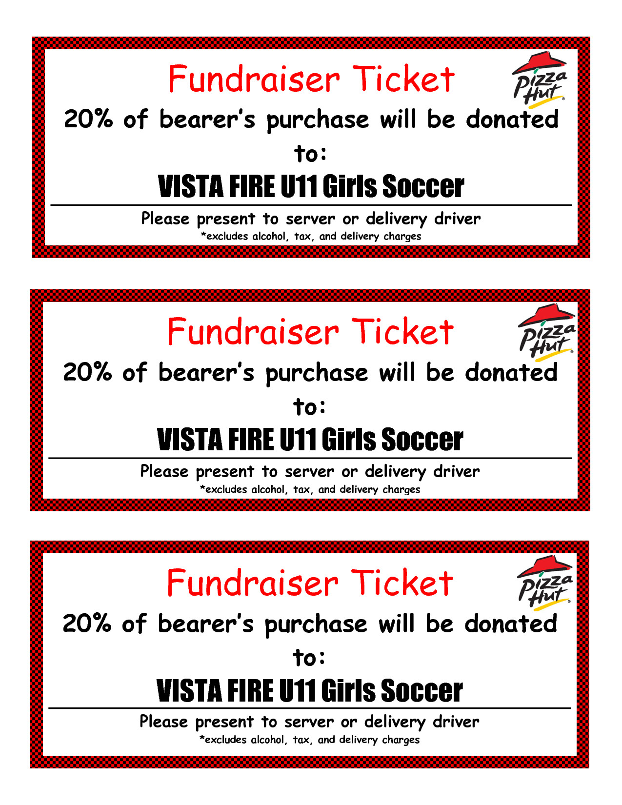 Fundraiser Tickets Template