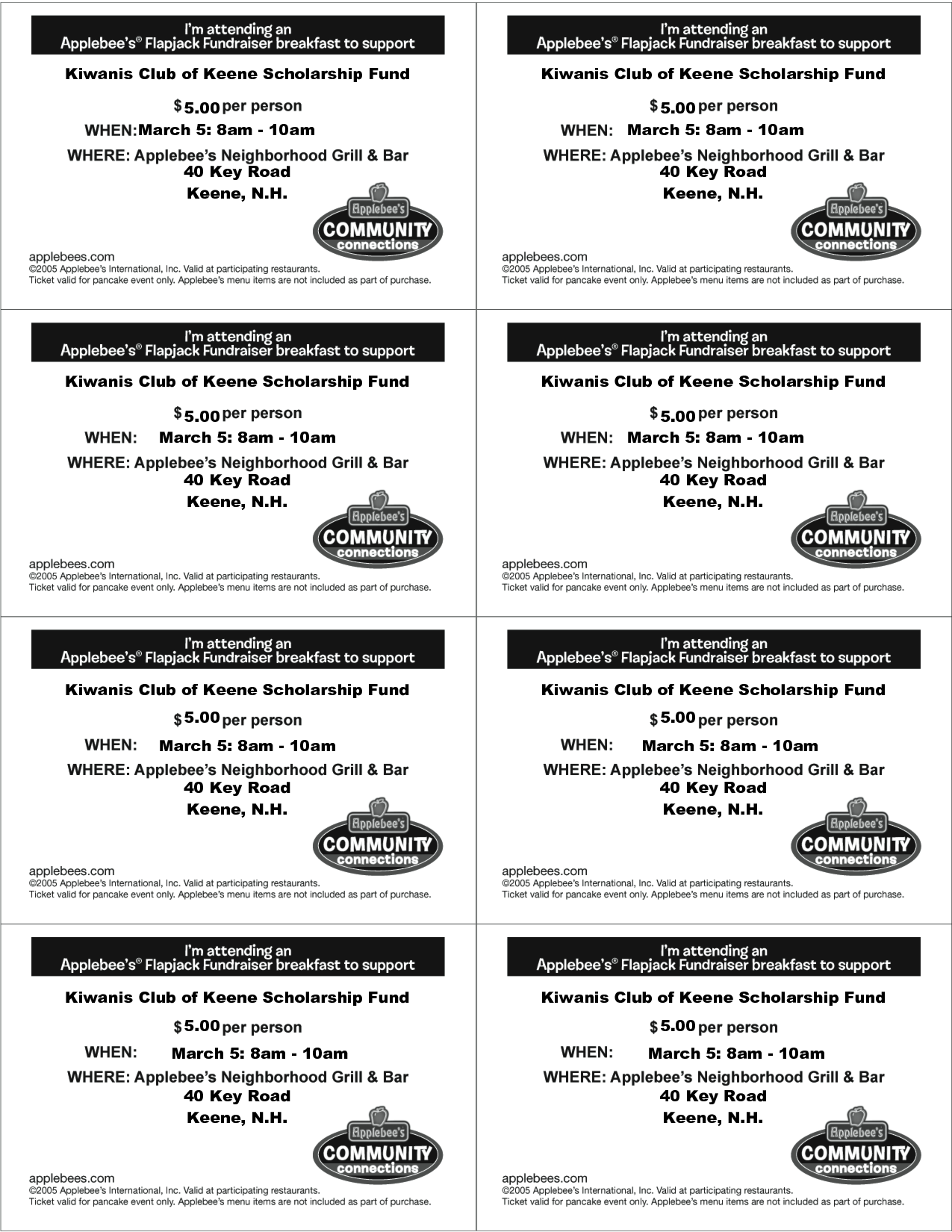 Fundraising Tickets Templates For Free
