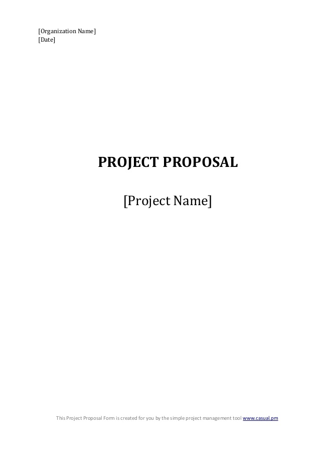 Generic Proposal Template