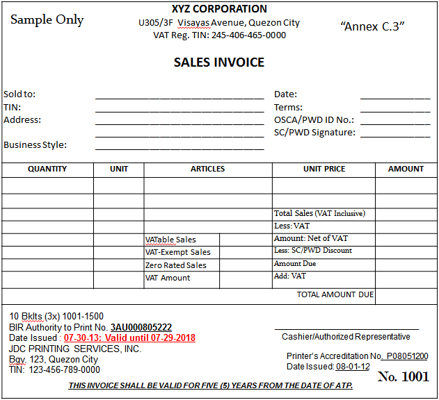 German Vat Invoice Template