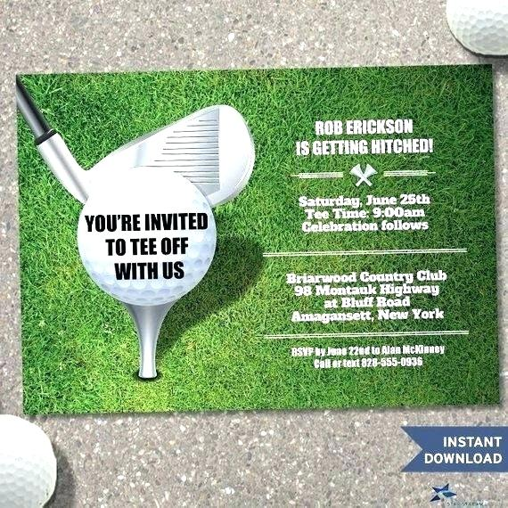 Golf Invitation Template Free Download