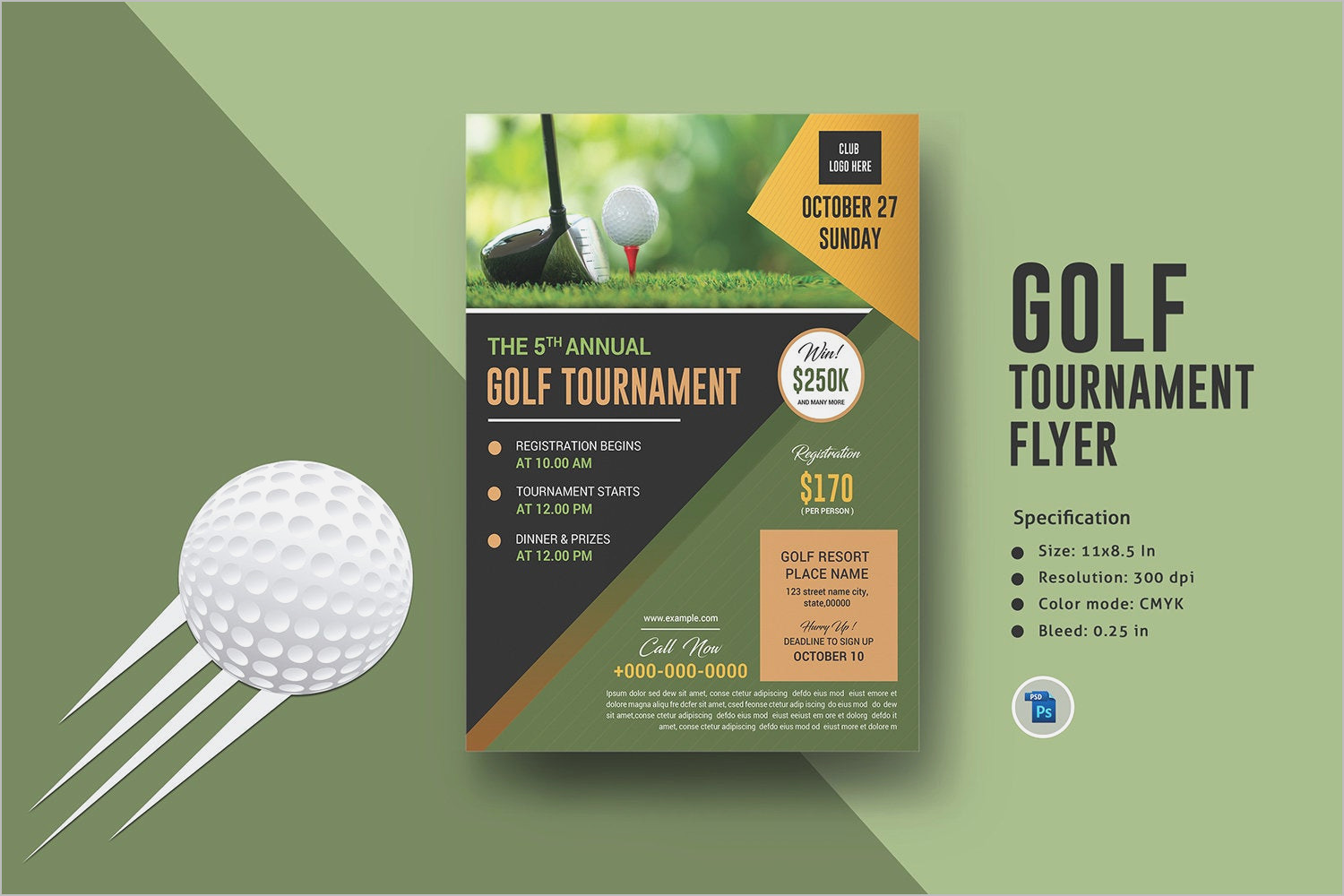 Golf Tournament Invitation Template Word