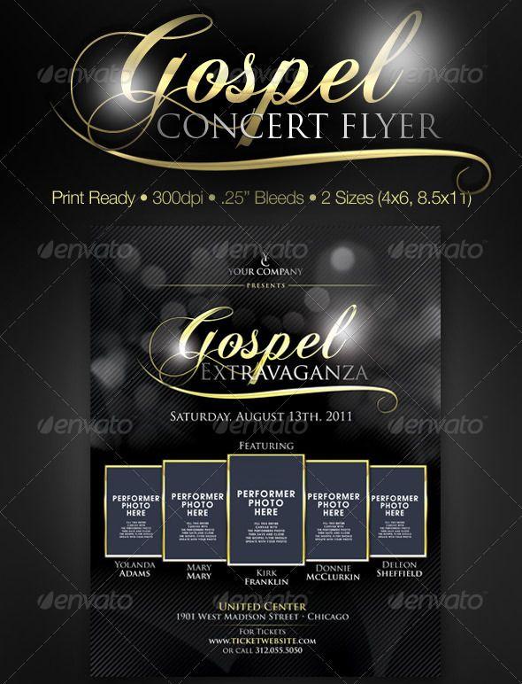 Gospel Concert Flyer Template Free