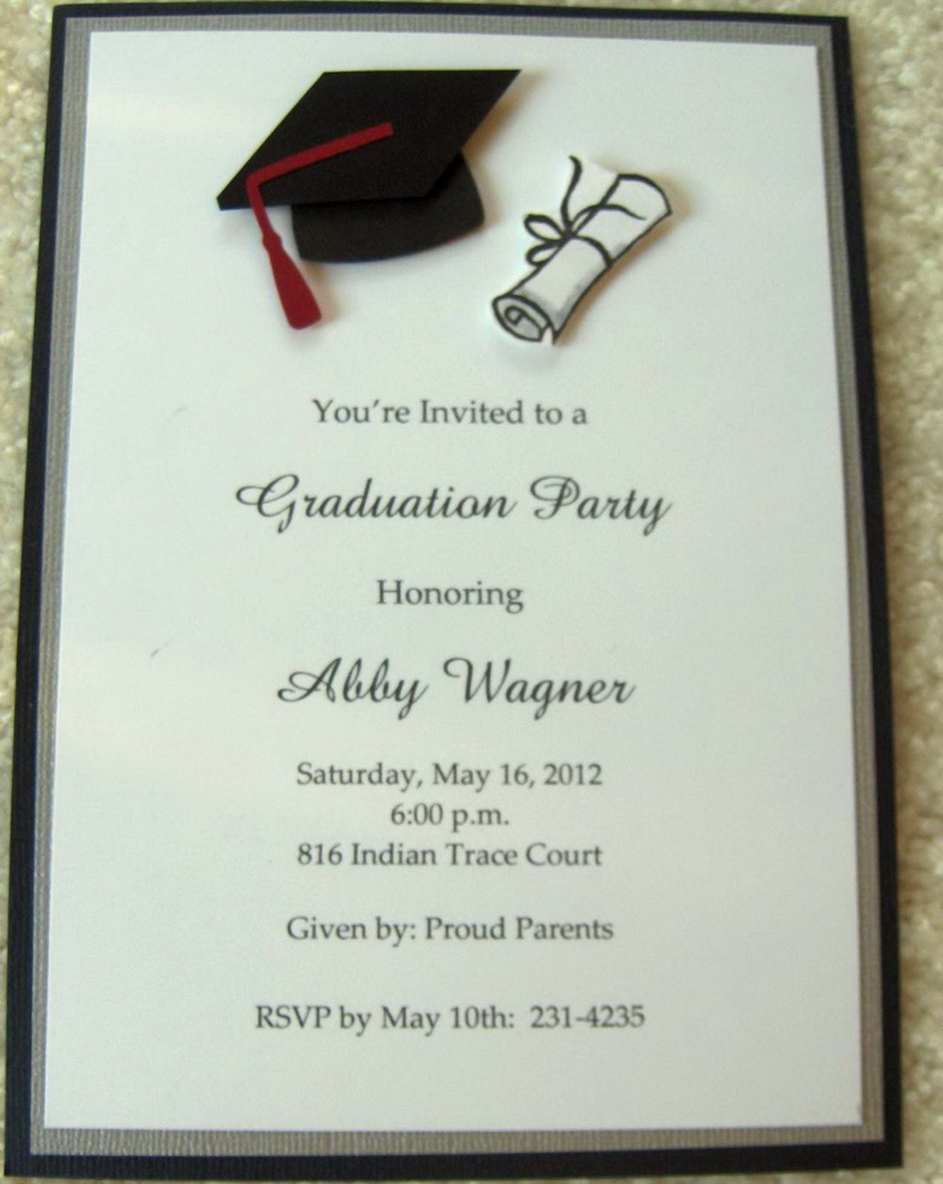 Graduation Ceremony Invitation Templates Free Download