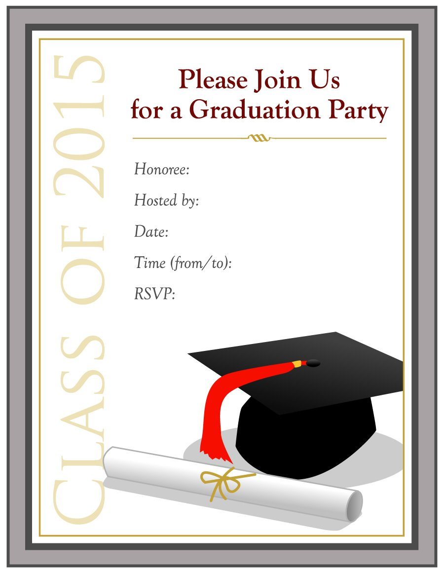 Graduation Ceremony Invitation Templates Free