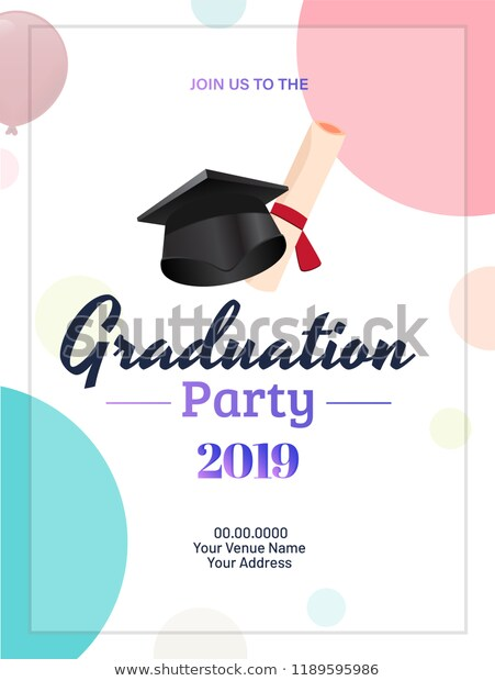 Graduation Invitation Card Template Free