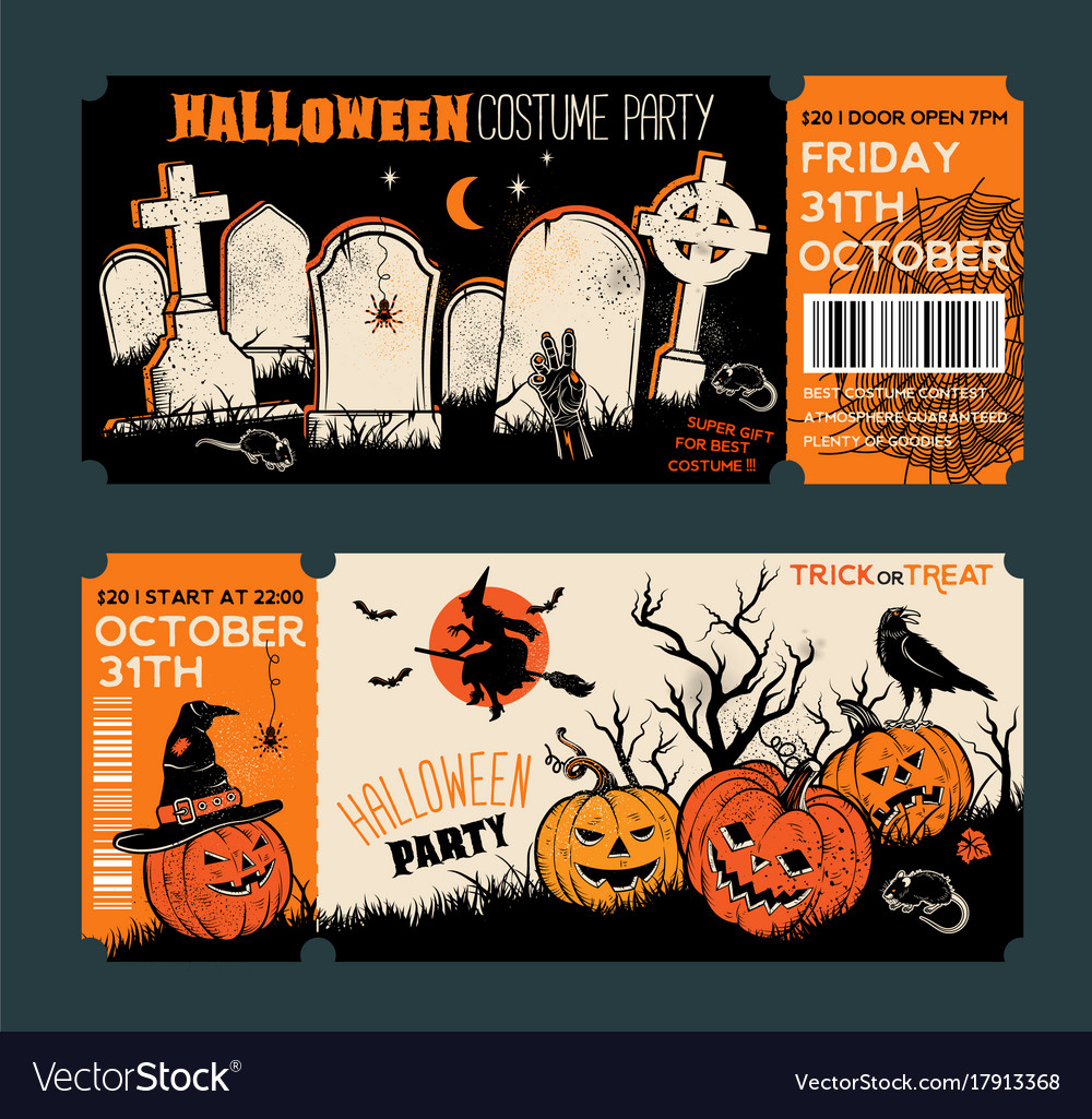 Halloween Tickets Template