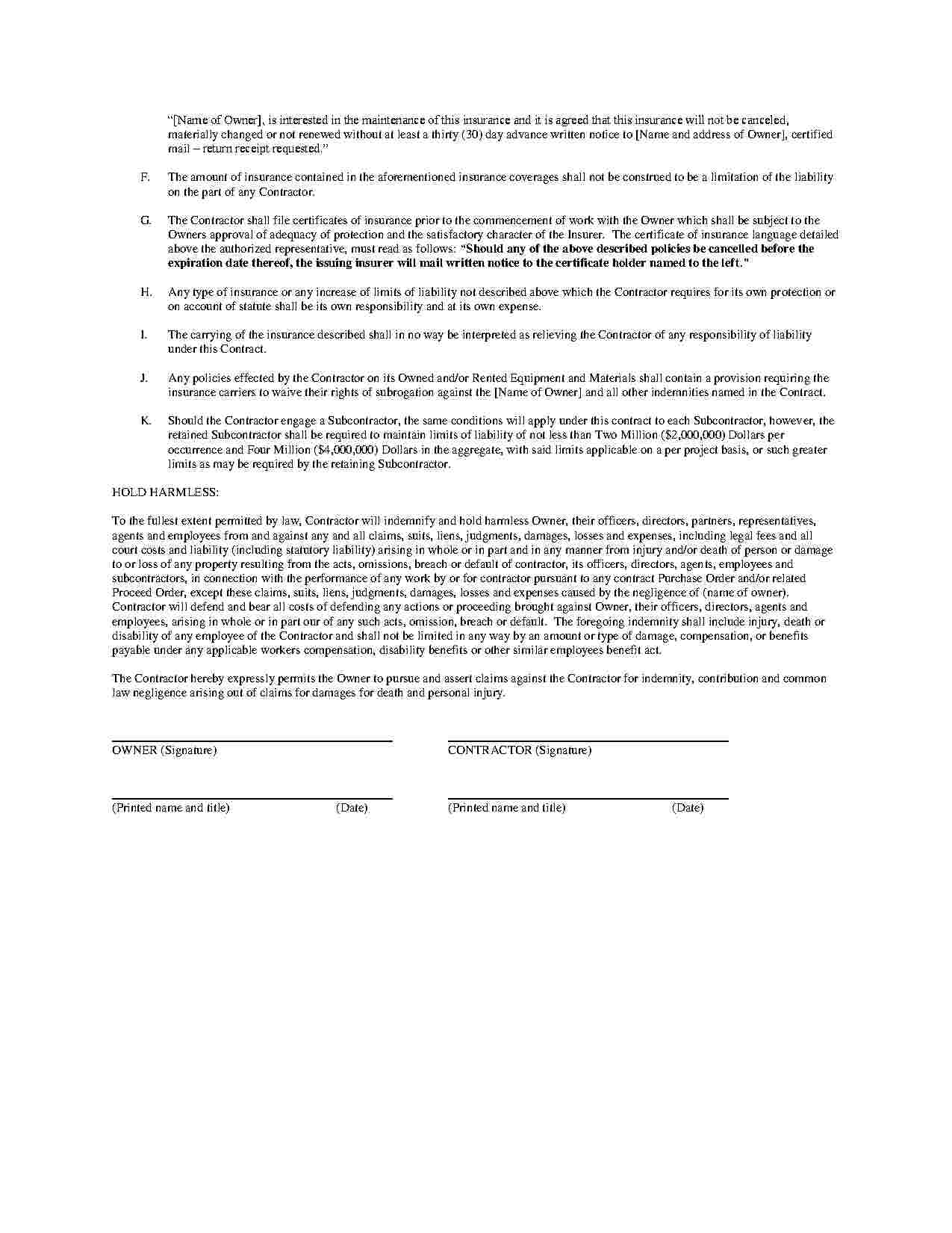Handyman Contract Template