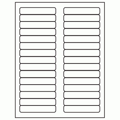 Hanging Folder Tabs Template