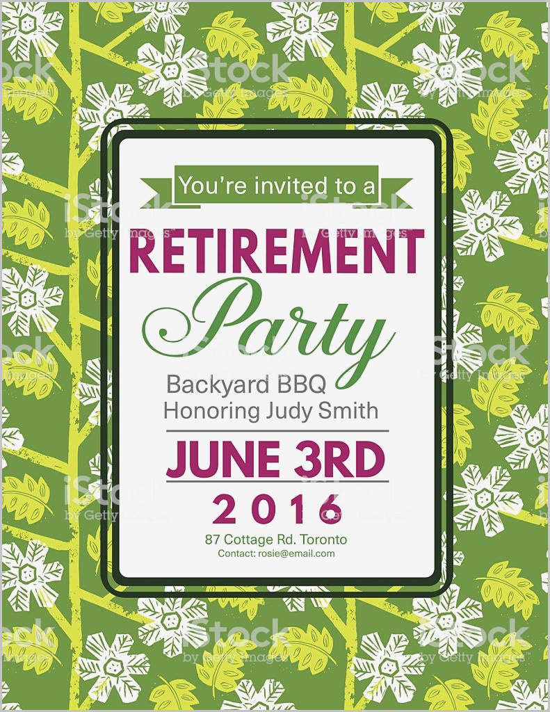 Happy Retirement Flyer Template Free