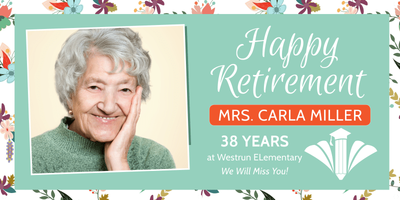 Happy Retirement Banner Template