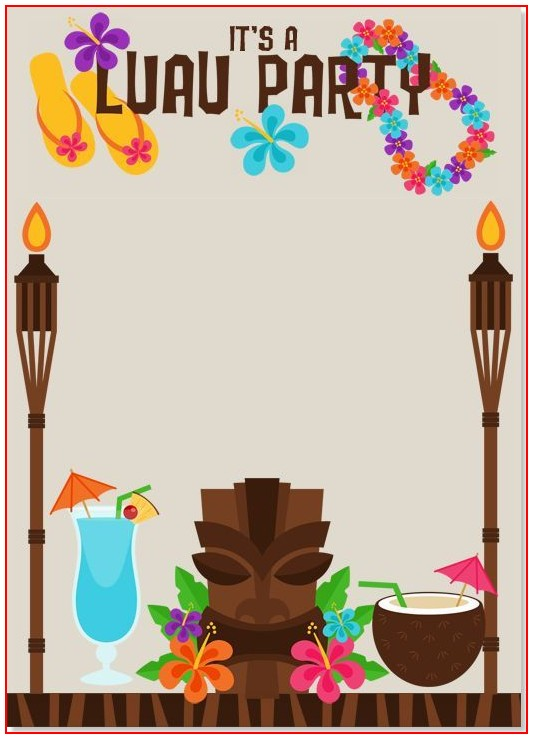 Hawaiian Invitation Template Free Download
