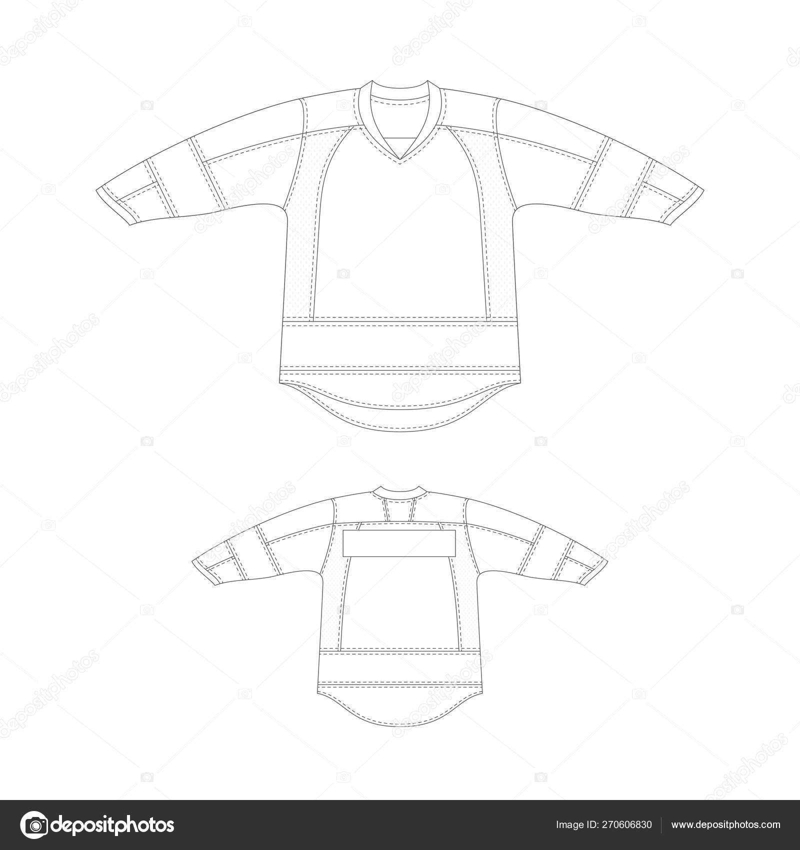 Hockey Jersey Design Template