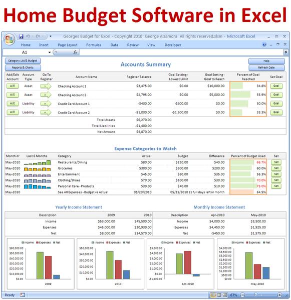 Home Budget Spreadsheet Template