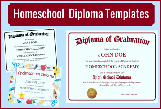 Homeschool Diploma Templates