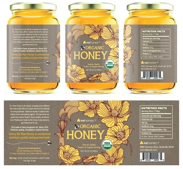 Honey Jar Labels Template Uk