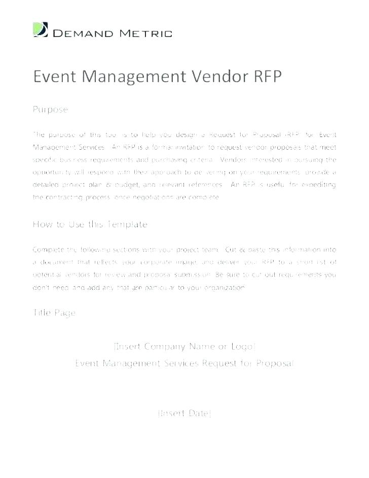 Hotel Rfp Template
