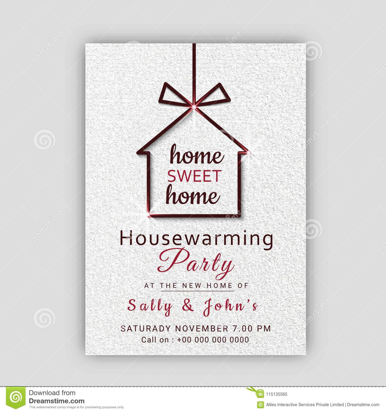 Housewarming Party Card Template