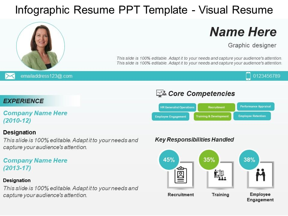 Infographic Resume Template Powerpoint