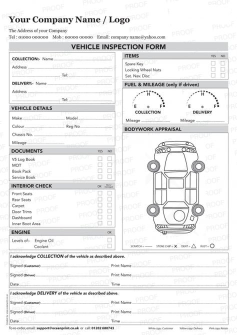 Inspection Sheet Template