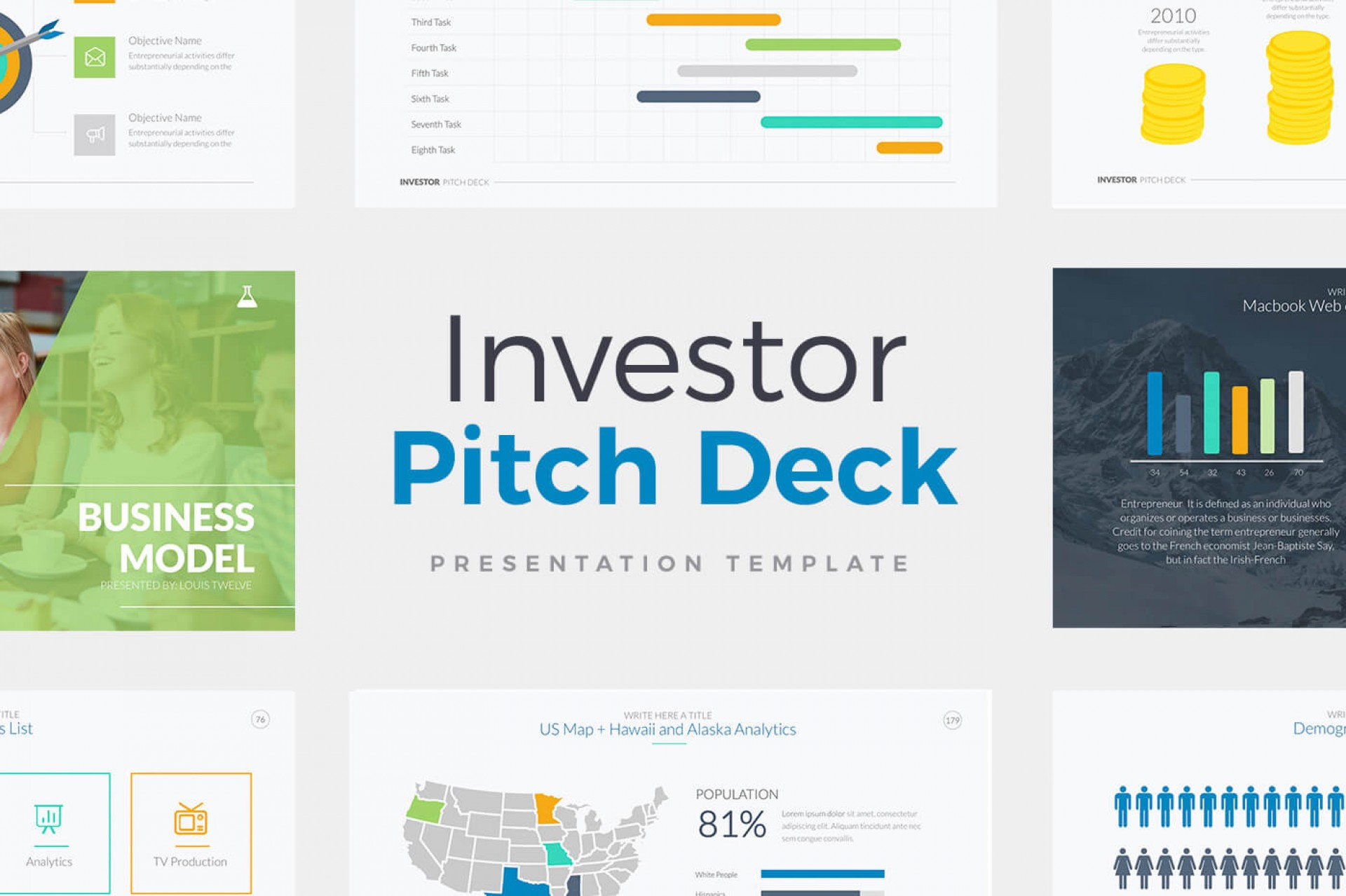 Investor Pitch Deck Template Free Download