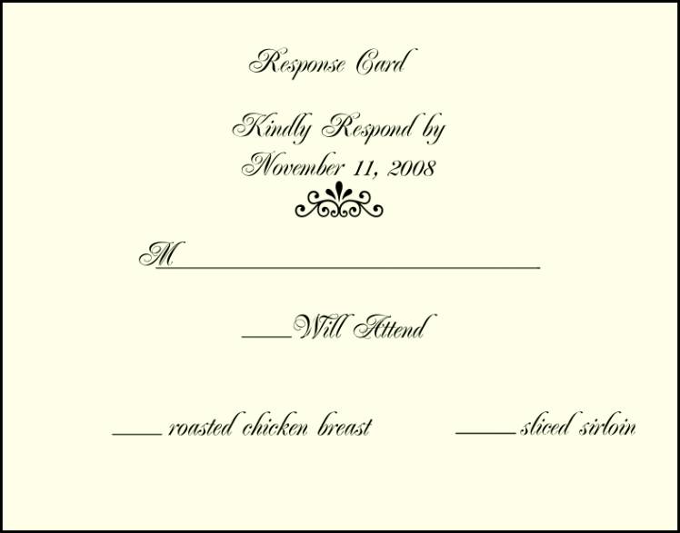Invitation Rsvp Email Template