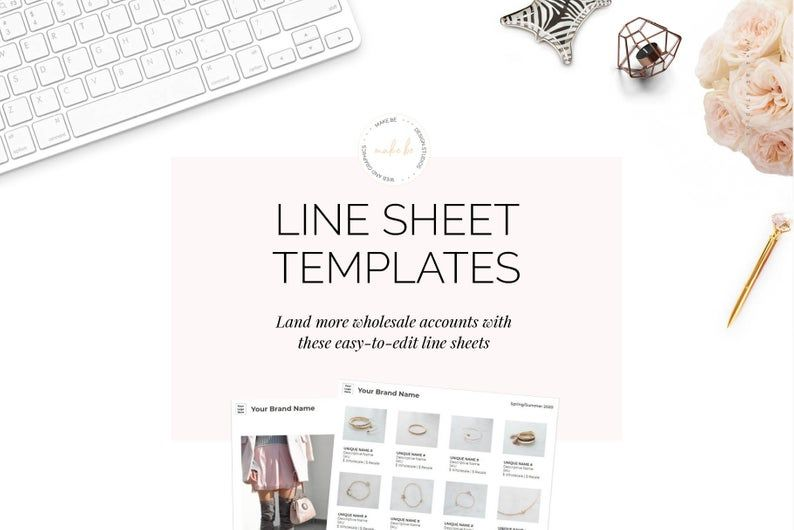 Jewelry Line Sheet Template