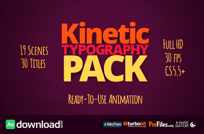 Kinetic Typography After Effects Template Free