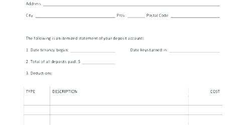 Landlord Tenant Invoice Template