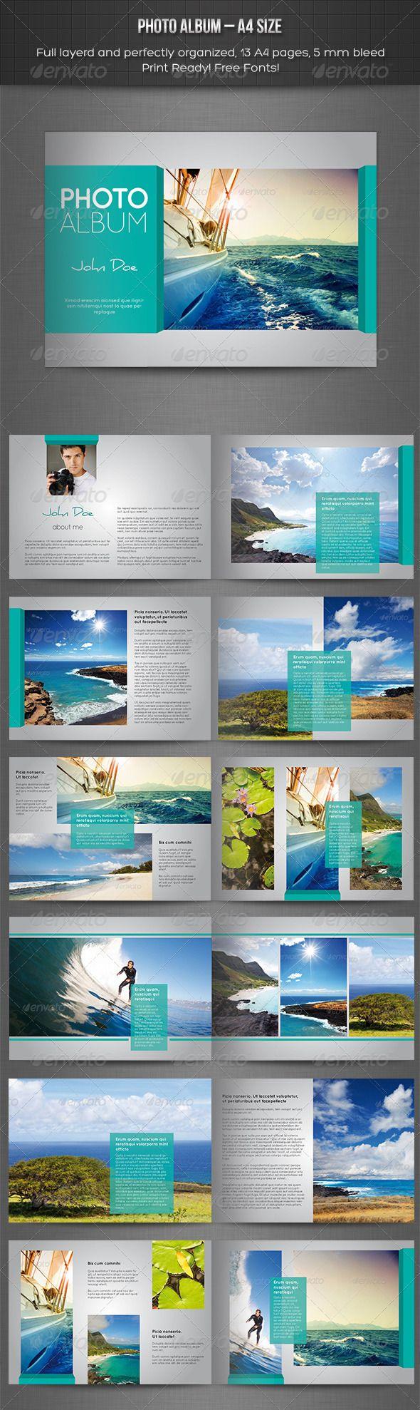 Landscape Photo Book Layout Templates