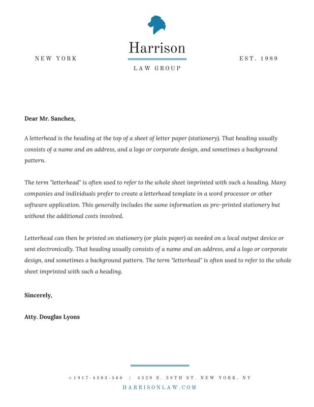 Law Firm Letterhead Templates