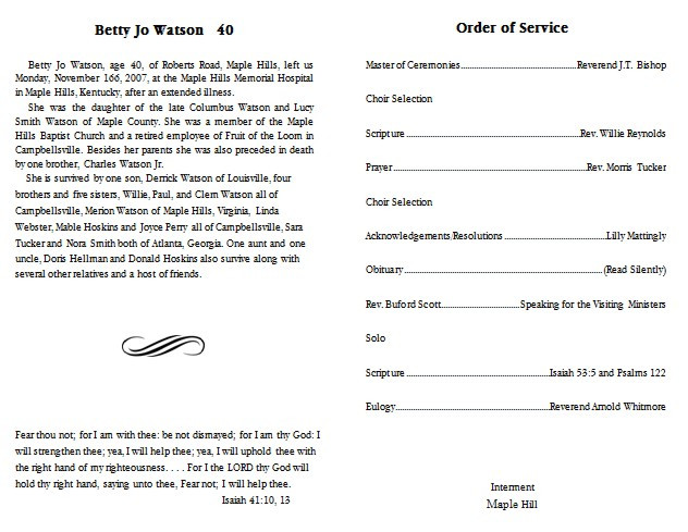 Free Funeral Program Layout Templates 10 Best Of Blank Funeral Program Template Free