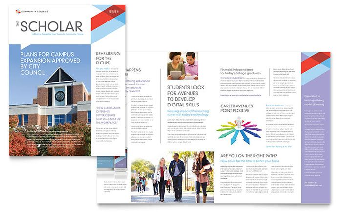 Layout College Newsletter Templates