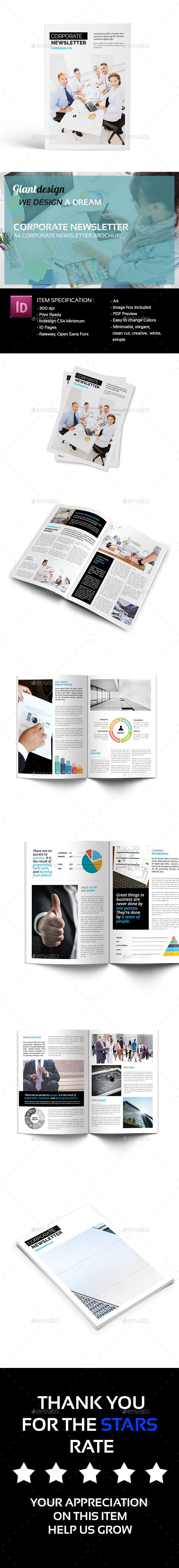 Layout Corporate Newsletter Templates