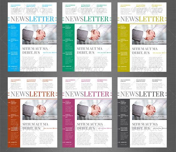 Layout Indesign Newsletter Templates