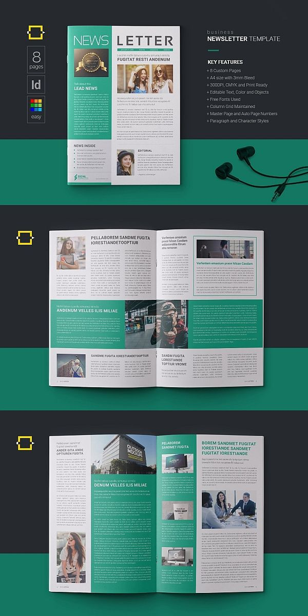 Layout Newsletter Design Templates